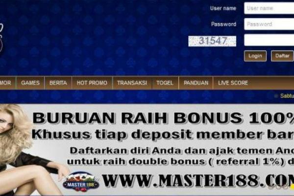 Bonus Referal Master188